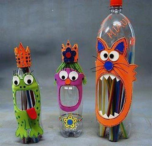 ideias para reciclar garrafas de plástico