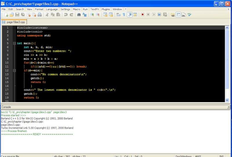 Standard C Compiler In Notepad
