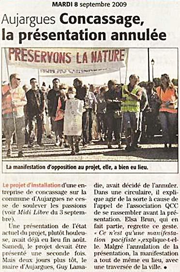Midi Libre 8 septembre 2009