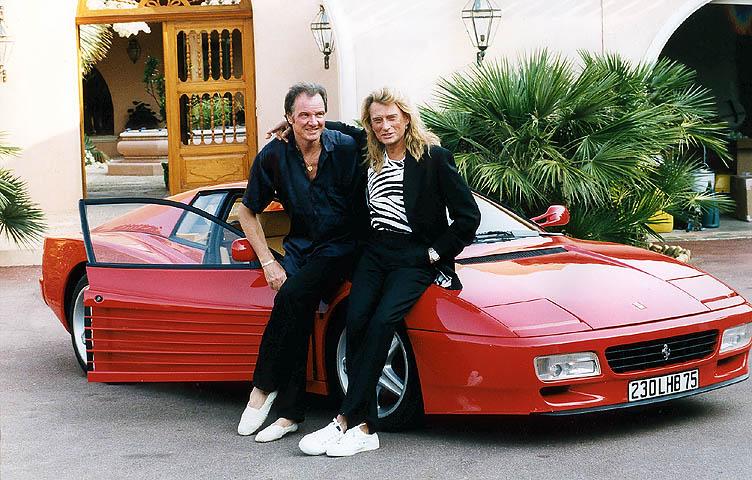 ian wallace et johnny au cara be et avec sa voiture de l 39 epoque. Black Bedroom Furniture Sets. Home Design Ideas