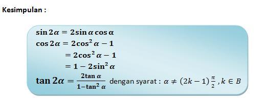 Rumus Trigonometri Dan Penggunaannya Bagian 2