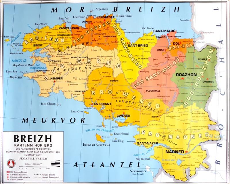 Ville De Bretagne Carte