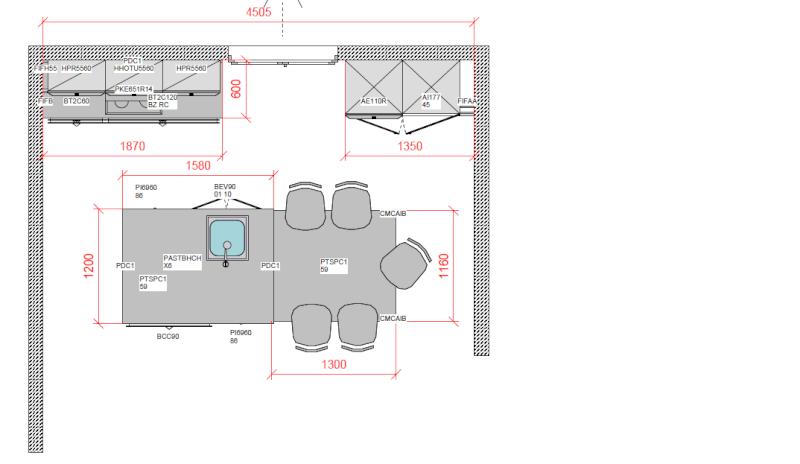 D coration plan technique cuisine ilot 79 roubaix for Plan electrique salle de bain