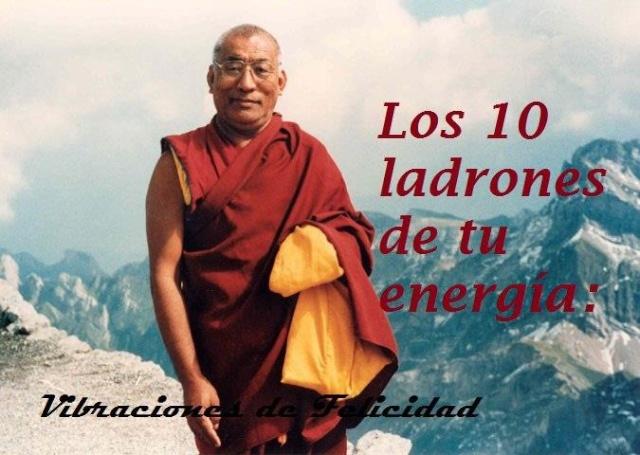 10 ladrones de tu energia