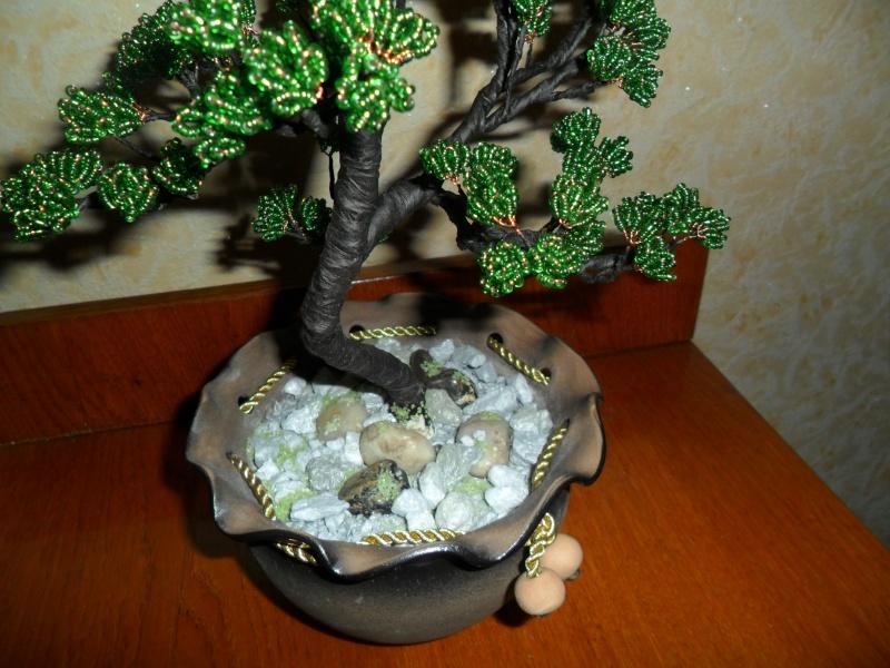 Как сделать дерево из бисера способ изготовления